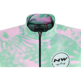 Northwave Leaves Kurzarm Trikot Switch Line Damen green forest/pink
